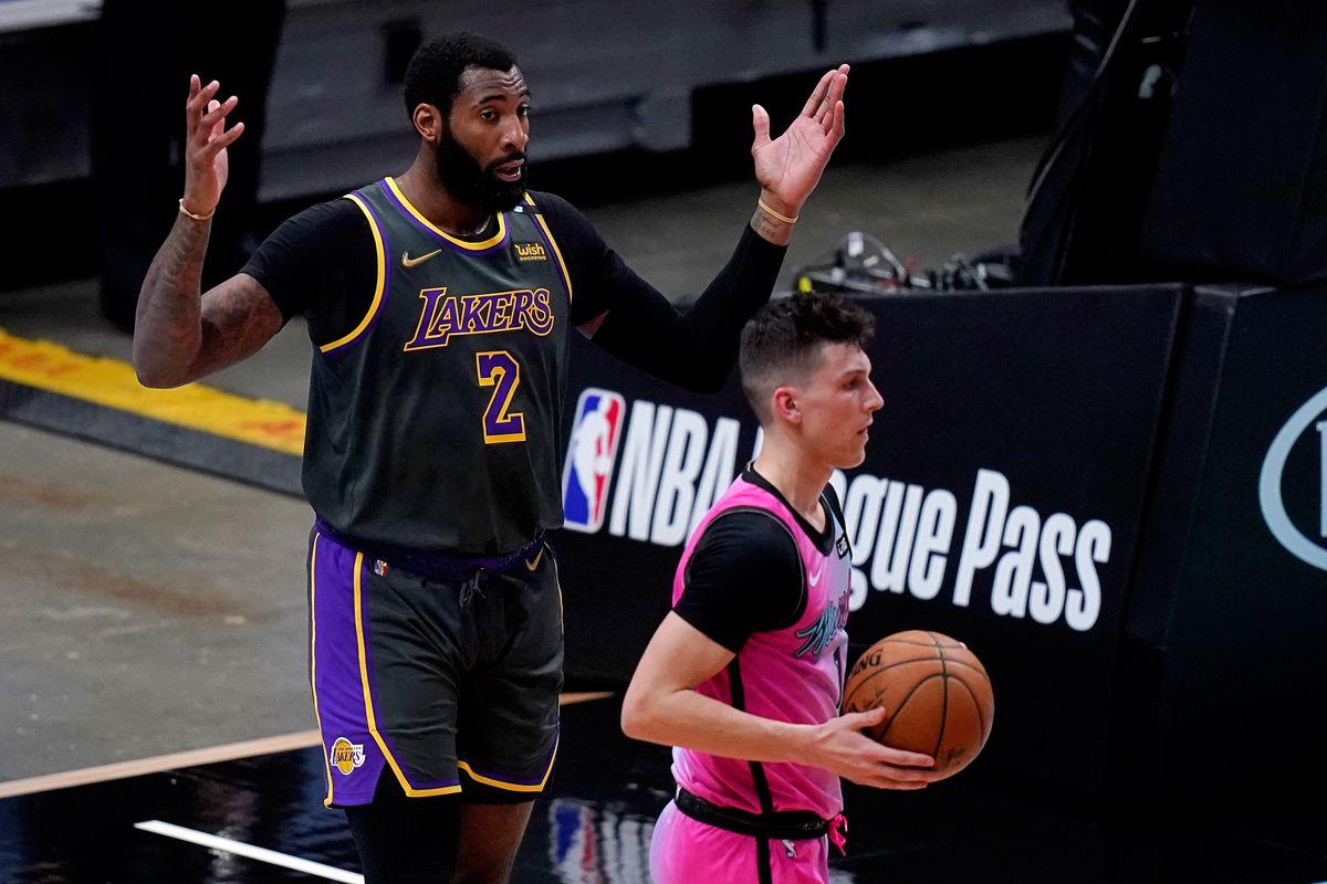 Drummond in azione coi Lakers