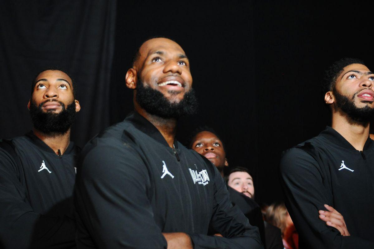 Drummond insieme a LeBron e Davis
