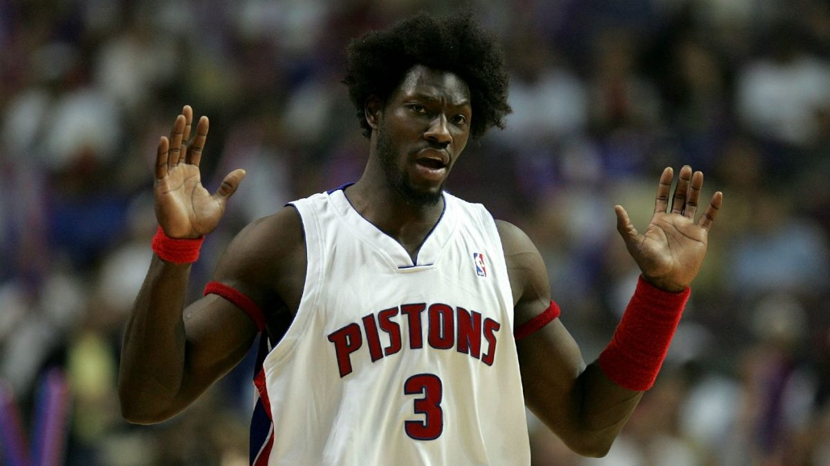 Ben Wallace in maglia Pistons