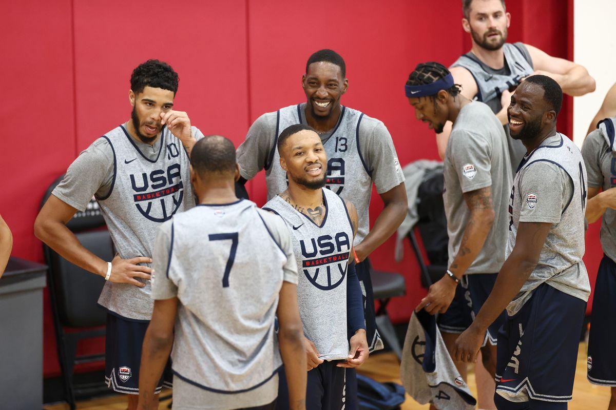 Team USA durante un allenamento
