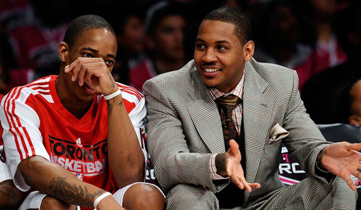 DeRozan e Carmelo durante una gara NBA