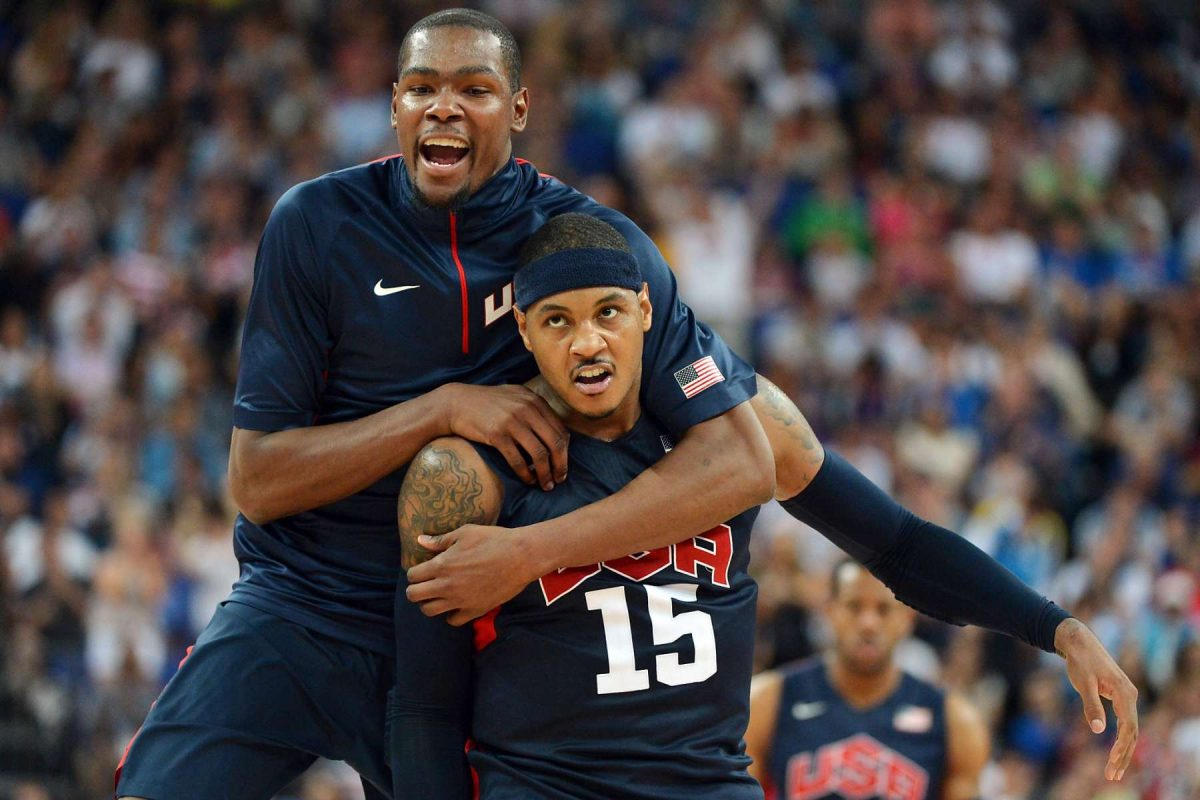 Kevin Durant e Carmelo Anthony in Team USA