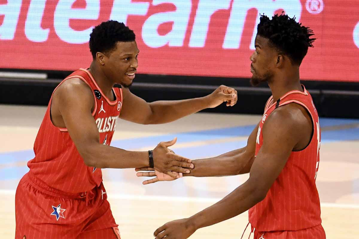 Kyle Lowry con Jimmy Buter all'All-Star Game 2020