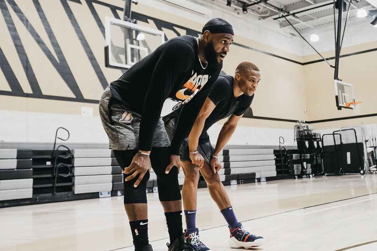 LeBron James si allena con Russell Westbrook