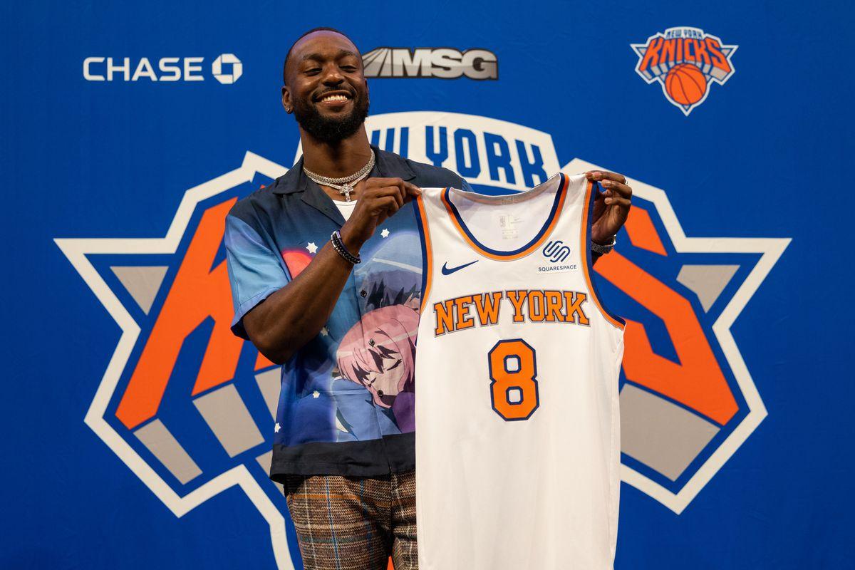 Kemba Walker alla presentazione coi Knicks
