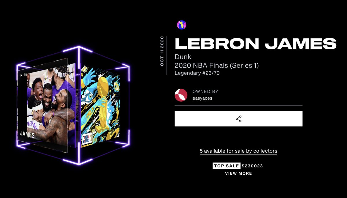 Il momento delle NBA Finals 2020 di LeBron James