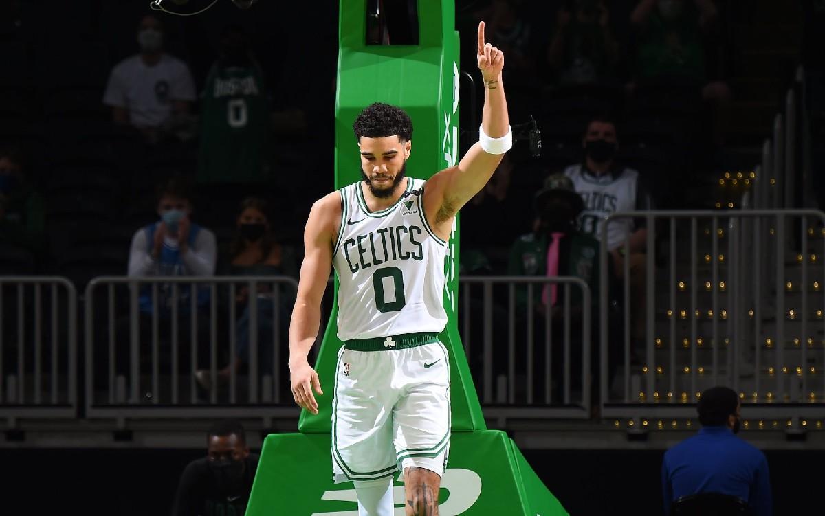 Jayson Tatum in maglia Celtics