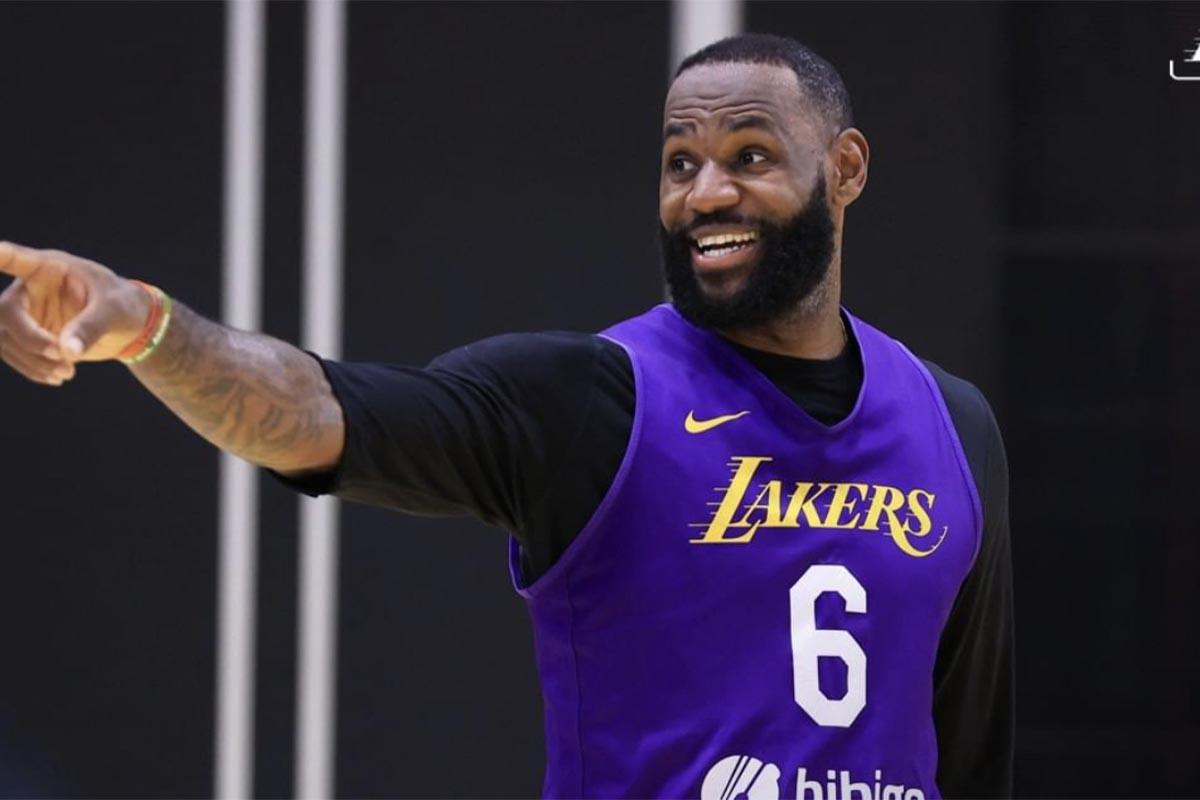 LeBron James all'allenamento dei Lakers