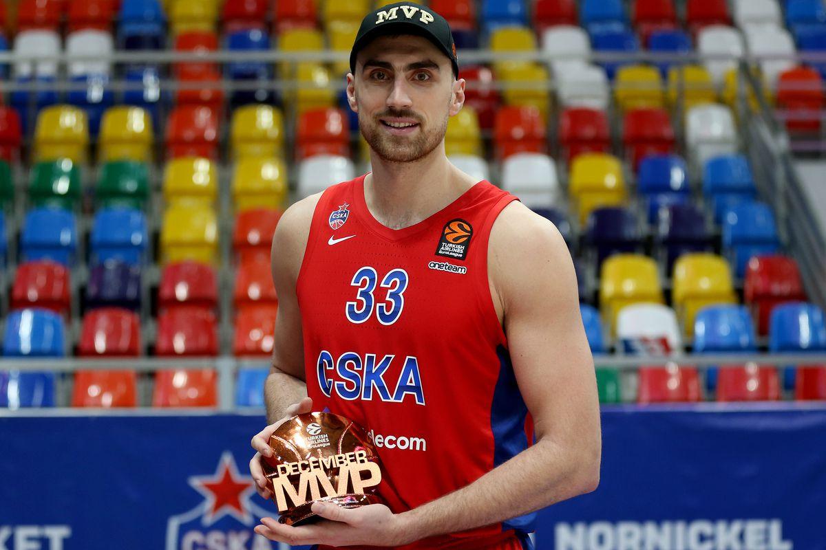 Milutinov con il premio di MVP