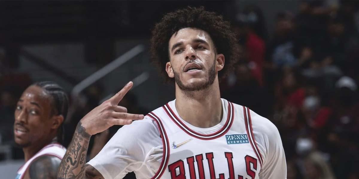 Lonzo Ball con la maglia dei Chicago Bulls