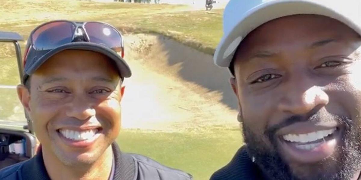 Tiger Woods e Wade sul campo da golf